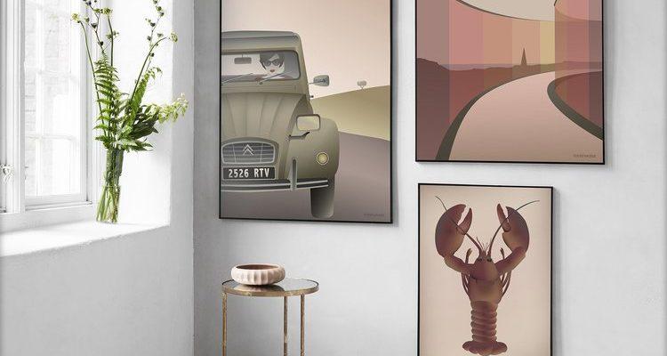 """Sammensæt din egen billedvæg med plakater, der tilsammen udgør """"the perfect pair"""""""